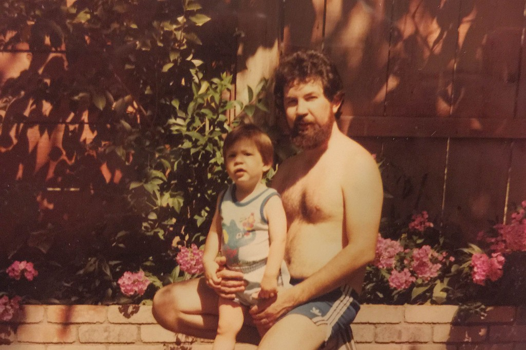 A tiny Chris Baca with Daddy Baca