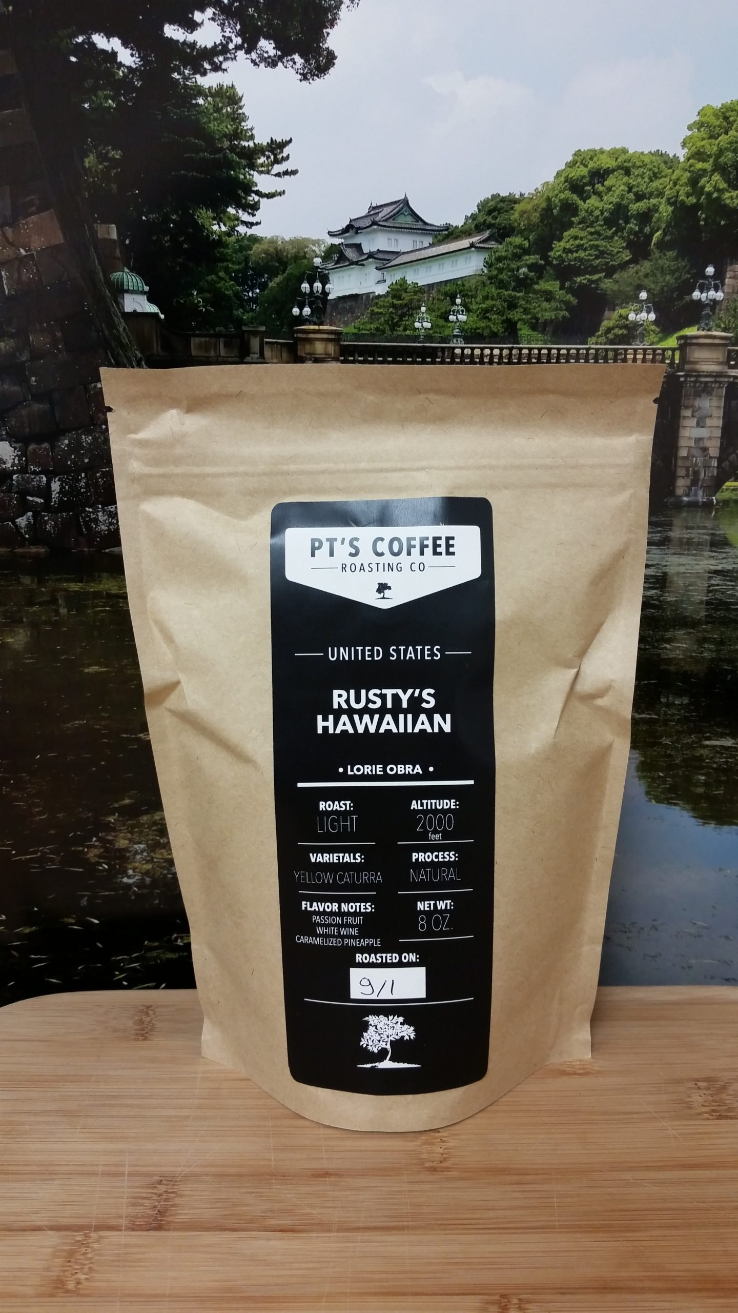 Rusty's Hawaiian Yellow Caturra Natural from PT's Coffee Roasting Co.